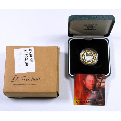 57 - SILVER PROOF ELIZABETH II £2's, 1986,(NOT PROOF) (NO BOX), 2004, 2014, 2015, 2016 (TWO TYPES), 2017,...