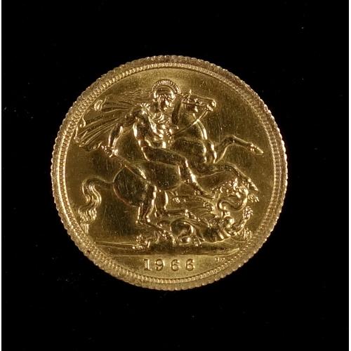 2 - GOLD SOVEREIGN, 1966...