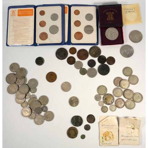 1 - GEORGE VI FLORIN, 1940, OTHER FLORINS ELEVEN INCLUDING 1919, HALF-CROWN, 1923, 6d's (3) AUSTRALIAN 3...