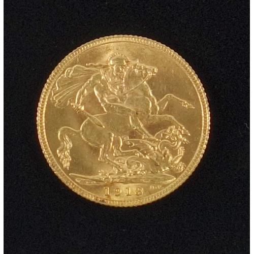 11 - GOLD SOVEREIGN, 1913...