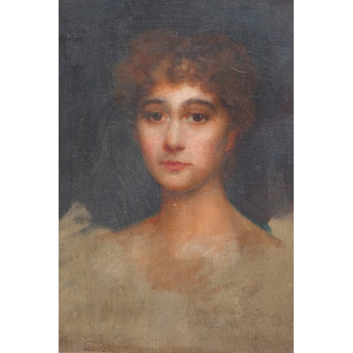 17 - ENGLISH SCHOOL, 19TH CENTURY, PORTRAIT OF A YOUNG WOMAN, OIL ON CANVAS, 49 X 39 CM...