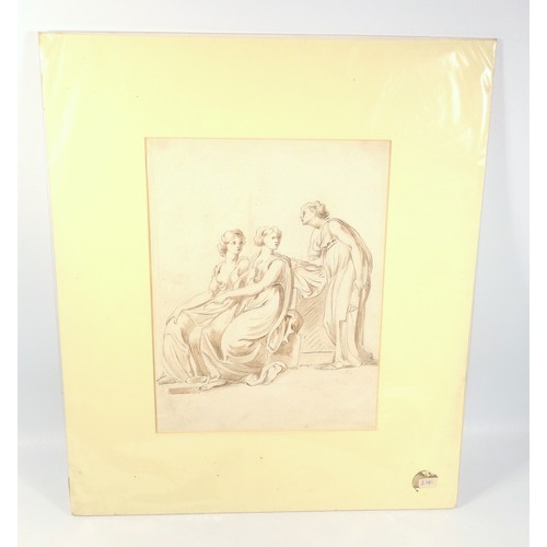 3 - R. J. DEAD GAME ON A LEDGE, SIGNED WITH INITIALS AND DATED 1848, PENCIL DRAWING, 14.3 X 20.7 CM, RUI...