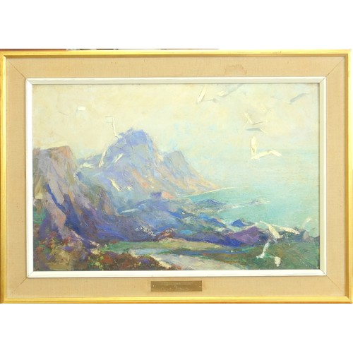 14 - CHARLES REBEL STANTON (1890-1954), 'HIGHLAND MIST', CIRCA 1930'S, OIL ON BOARD, 32.5 X 49.8 CM....