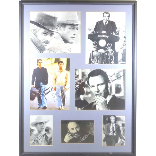 30 - HOLLYWOOD FILM GREATS - AUTOGRAPHED IMAGES COMPRISING: ROBERT REDFORD, SEAN CONNERY, TOM CRUISE, DUS...