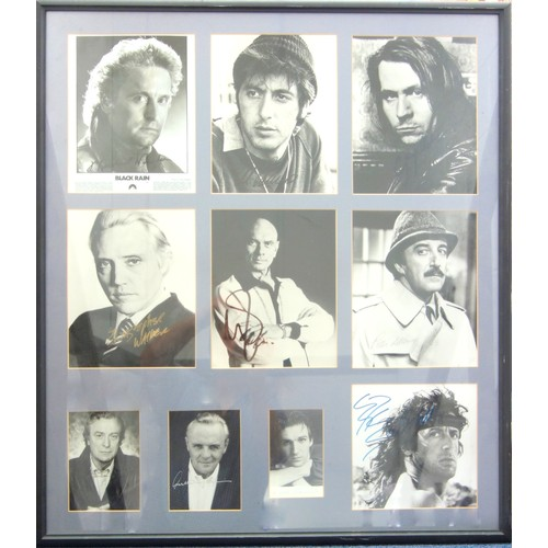 31 - HOLLYWOOD FILM GREATS - AUTOGRAPHED IMAGES COMPRISING: MICHAEL DOUGLAS, AL PACINO, GARY OLDMAN, CHRI...