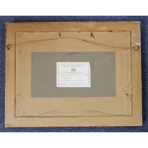 5 - LAURENCE HENRY F. IRVING (1897-1988) HARVESTING - BEL CASTLE, DORDOGNE, SIGNED WITH A MONOGRAM AND D...