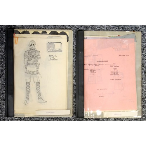 46 - An extensive collection of ephemera relating to fashion design to include black and white fashion ph...