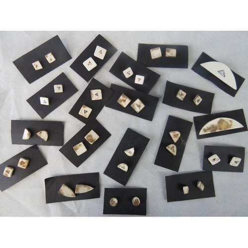 100 - A quantity of studio pottery stoneware earrings....