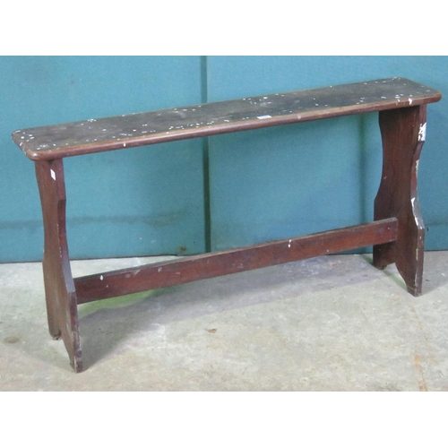 1133 - A Victorian pine organ bench 130cm in length....