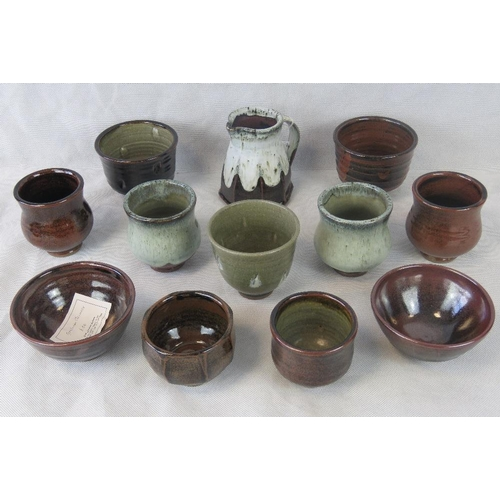 466 - Twelve Graham Skinner studio pottery small bowls....