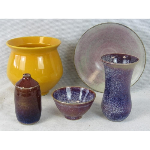 504 - Five items of George Wilson studio pottery including vases and bowls....