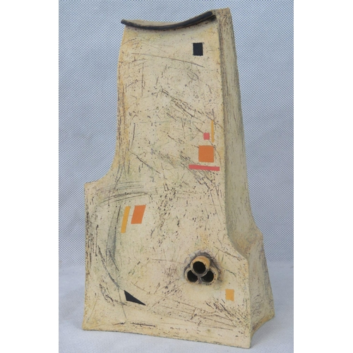 505 - Mariette Rennie. Abstract studio piece standing 27cm high....