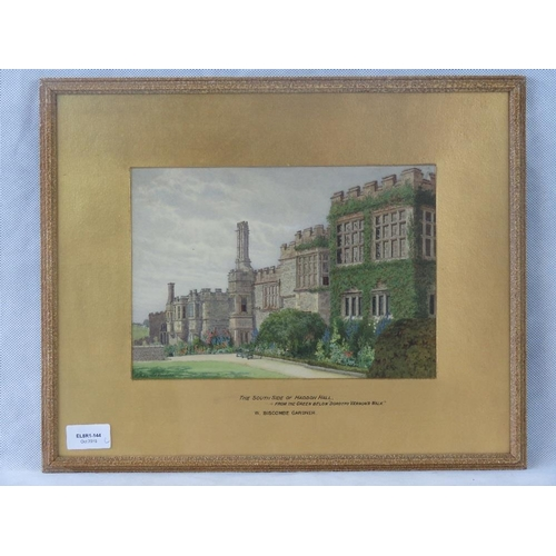 972 - William Biscombe Gardner ''The South side of Haddon Hall- from the green below ''Dorothy Vernon's Wa...