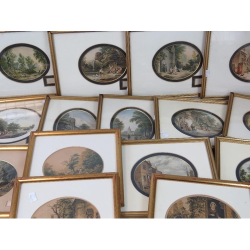 979 - A quantity of fifteen assorted gilt-framed original Abraham Le Blond prints, various sizes....