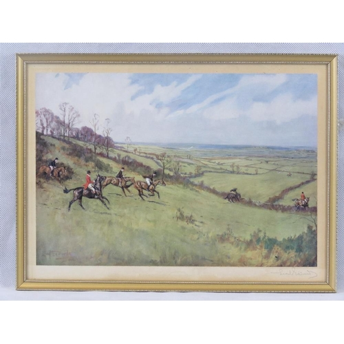 8 - Lionel Edwards (British 1878-1966) signed print of hunting scene; signed in pencil lower right; sigh...