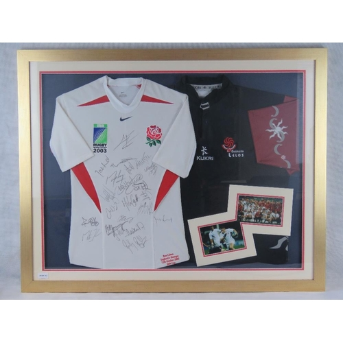58 - Ben Cohen England international rugby player, signed England match shirt from 2003 World cup match v...