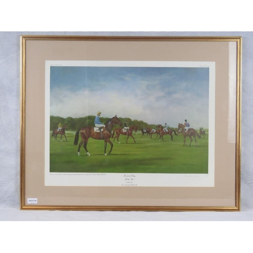 59 - Madeleine Selfe, limited edition (687/850) print of ''The 200th Derby- At the Start- 6th June 1979, ...