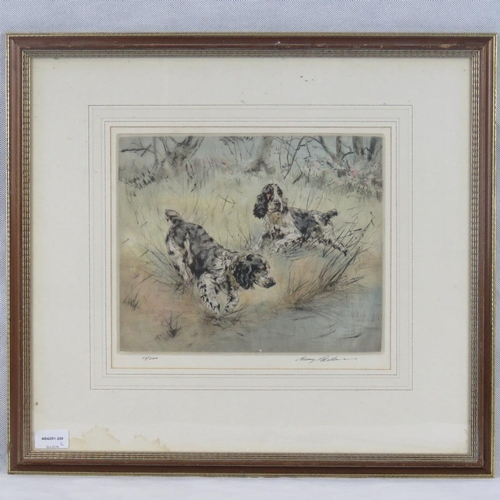 62 - Henry Wilkinson, limited edition dry point etching ''Collingwood Cockers''; 16/200, signed in pencil...
