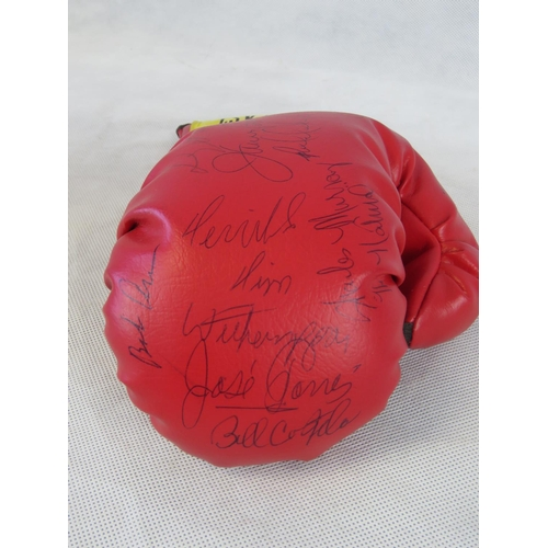 72 - An Everlast boxing glove bearing signatures of Tim Witherspoon, James 'Bonecrusher' Smith and others...