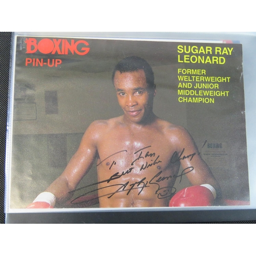 41 - A collection of Boxing autographs including Nassim Hamed and some vintage and more recent boxing pub...