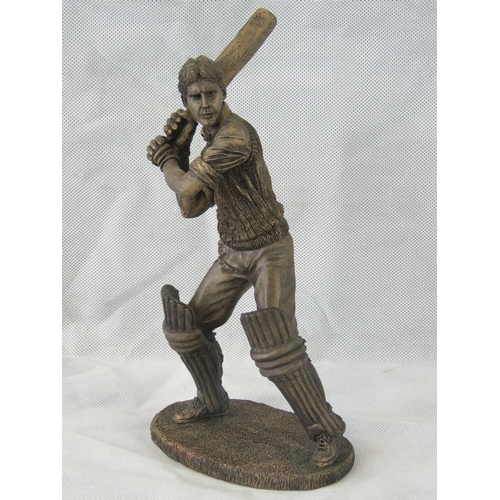 19 - A composite Sherratt & Simpson figurine of a ''Cricketer  swinging the bat''; overall height 27cm....
