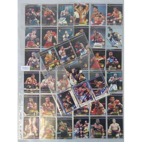 18 - 41 autographed Ringlords trading boxing cards, including Mike Tyson Lennox Lewis, Evander Holyfield ...