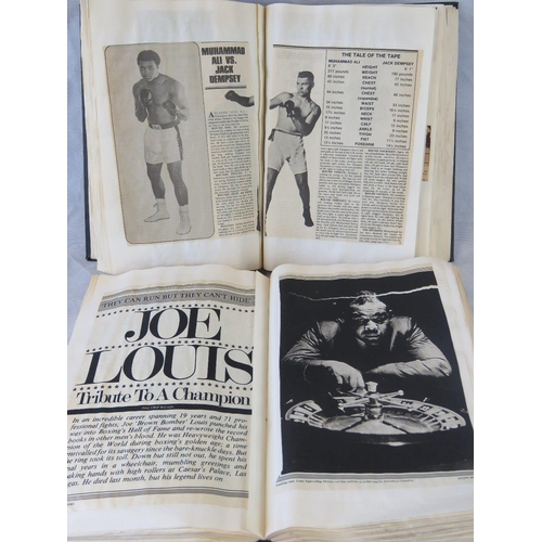 31 - A large Joe Louis scrap book containing numerous press cuttings and articles together with another f...