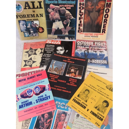 9 - Approximately 15 boxing programmes and related publications including Sugar Ray Leonard v Hearns,  H...
