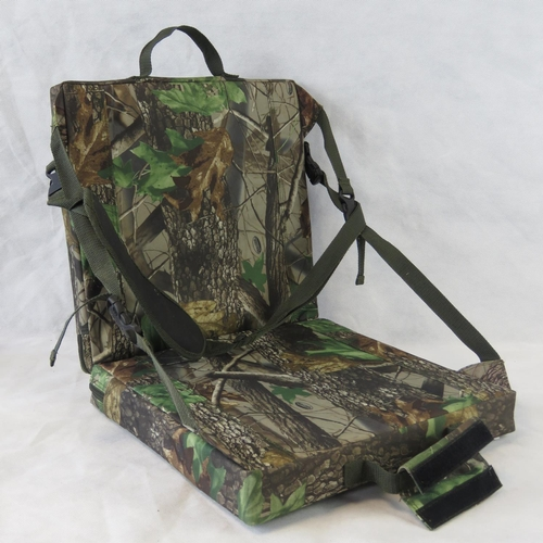 99 - A padded camouflage seat by Shimano as used by Bob Church in high-level  competitive fishing matches...