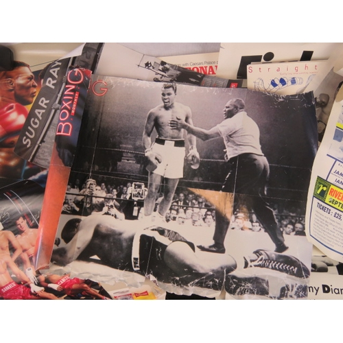 122 - Eight retro boxing promotion and general boxing posters including ''Hearns Vs Leonard'' 63cm x 48cm;...