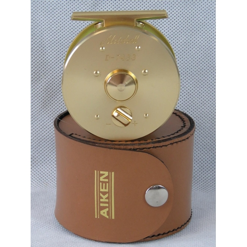 103 - A rare gold-plated reel as made by Mitchell for Bob Church personally, No D-7433. Unused and contain...