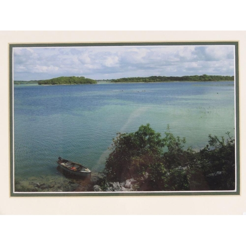 106 - A 1995 map of Loughs Corrib & Mask together with a framed photograph of Lough Carra. Two items. From...