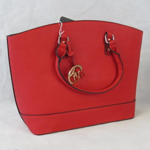138 - Tote bag. Red, two handles, zip closure, internal zip pocket and two internal open pockets, includes...