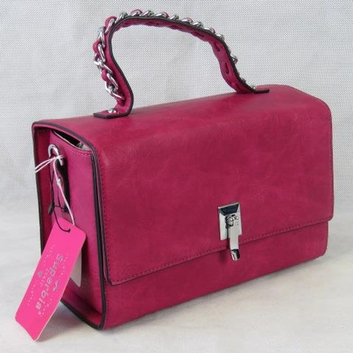 92 - Handbag. Pink, single handle, clasp closure, two internal zip pockets and two internal open pockets,...