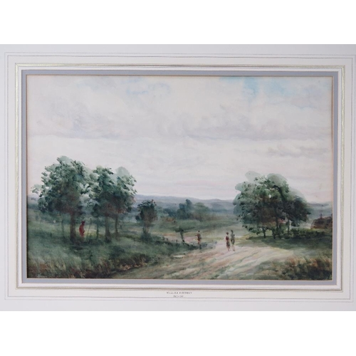 1019 - William Freeman (British), verdant county scene watercolour; unsigned; sight size 35cm x 53cm....