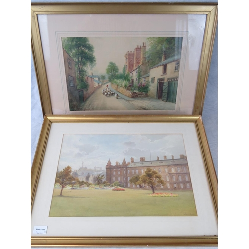 1023 - Cyril Ward, parkland scene water colour; signed lower right together with another watercolour of she...