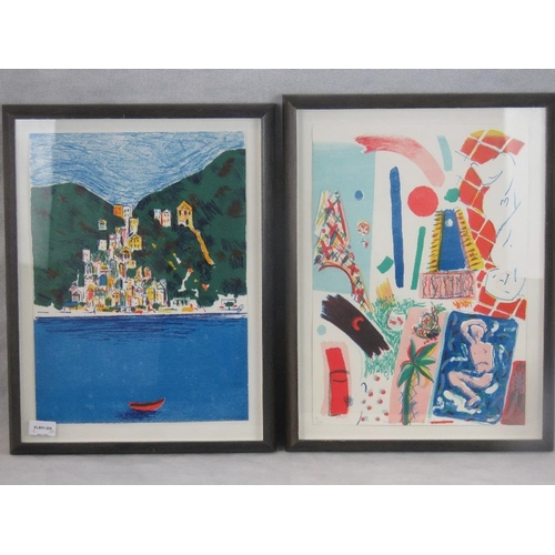 1060 - Two limited edition 20th century lithographs: A Parisian fauve style print (sight size 42cm x 30cm) ...