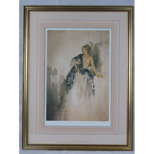 1075 - William Russell Flint limited edition print of a lady in a state of undress; unsigned; numbered 269/...