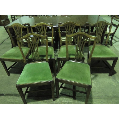 1148 - Six reproduction Georgian-style dining chairs with drop-in seats....