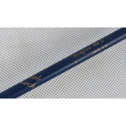 145 - An Avington Mk II 9 foot two-sectional fly rod- takes a Number 6 floating fly line. Bob caught the b...