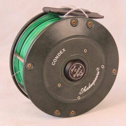 147 - A Condex Shakespeare Salmon4 inch reel with Number II sinking fly line. This reel landed many record...