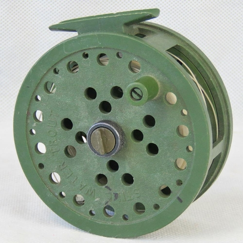 151 - A rare 'green'  Lineshooter nylon lightweight reel.  Bob Church's original design  for 'big water Tr...