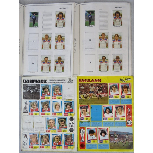 160 - Three retro intern football sticker albums: Argentina '78 and two of Spain '82. From the personal of...