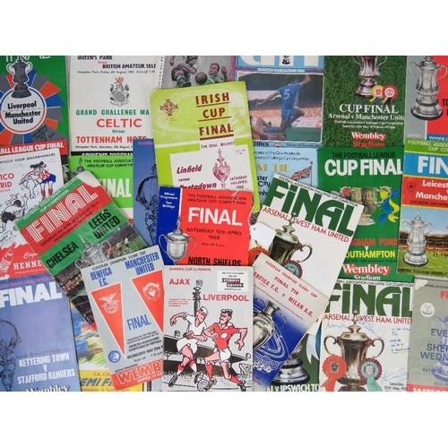 161 - 28 European football tournament programmes from the 1950s-1980s: Benfica V Manchester United 1968; M...