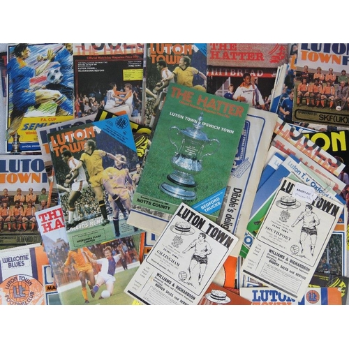 163 - Over 70 vintage and retro Luton Town FC programmes from 1960s - 1980s. From the personal of Keith Ba...