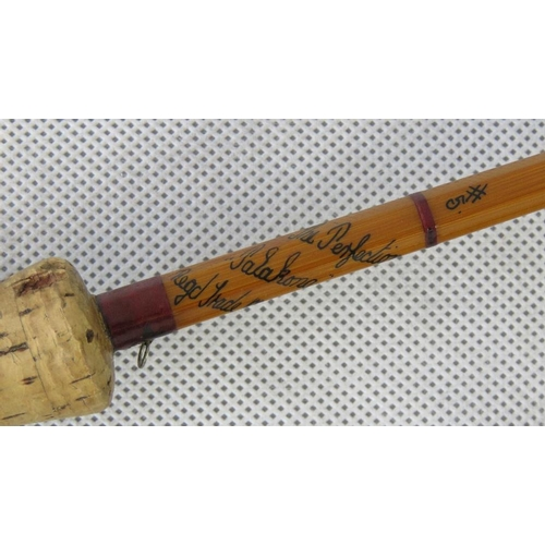 176 - A vintage ''Perfection'', 8' 6'' split cane fly rod, serial number 'H71856'....