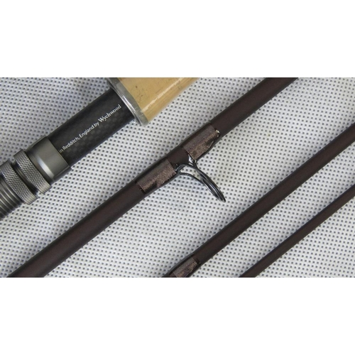 178 - A modern Wychwood SLA Truefly 20'7'', three piece trout rod with padded cylindrical case; in excelle...
