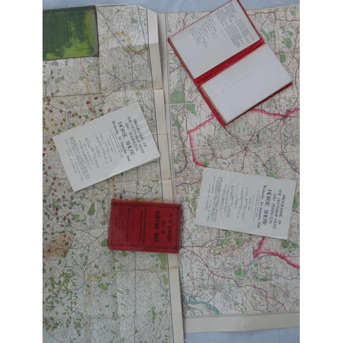 137 - Three vintage hunting maps: Sussex Hunting Map; A.H. Swiss' No. 8 Hunting Map (Oxfordshire, Buckingh...