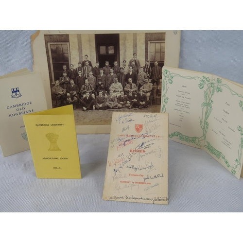 138 - A collection of Cambridge University ephemera: 1902-1905 Trinity College Cambridge (a/f) 26.5cm 35.5...