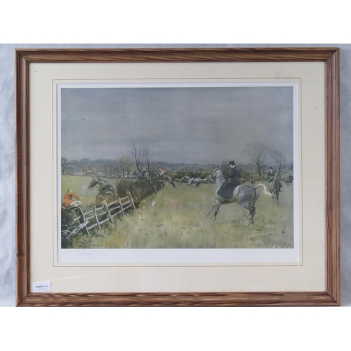 184 - Lionel Edwards colour print of a hunting scene, signed in pencil lower left; sight size 38cm x 51cm....